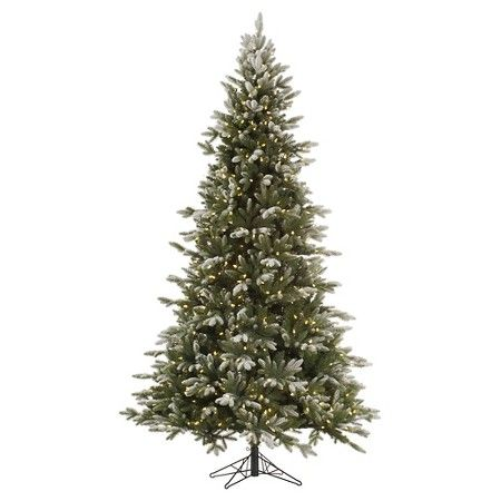 55ft Pre-Lit Artificial Christmas Tree Balsam - Clear Lights, Green