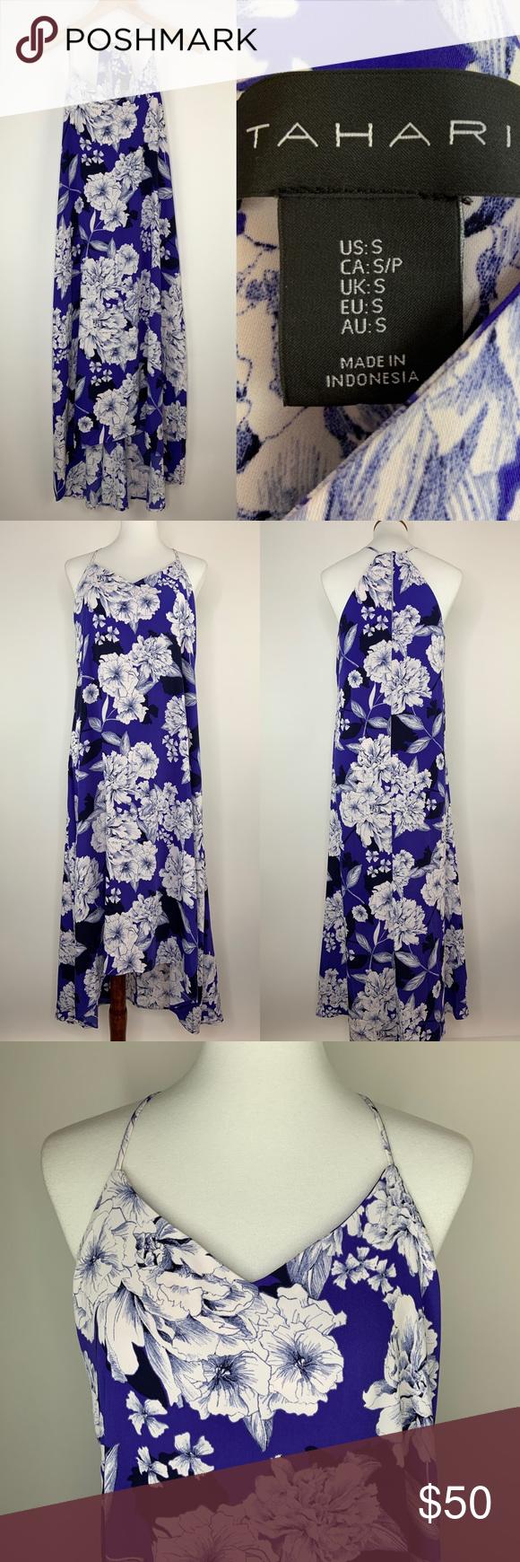 Tahari Maxi Dress Size Small Purple Racerback Flowy Maxi Dress Maxi Dress Clothes Design [ 1740 x 580 Pixel ]