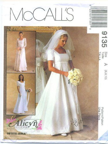 Mccall S 9135 Wedding Dress Sewing Patterns Rustic Wedding Dresses Wedding Dress Patterns