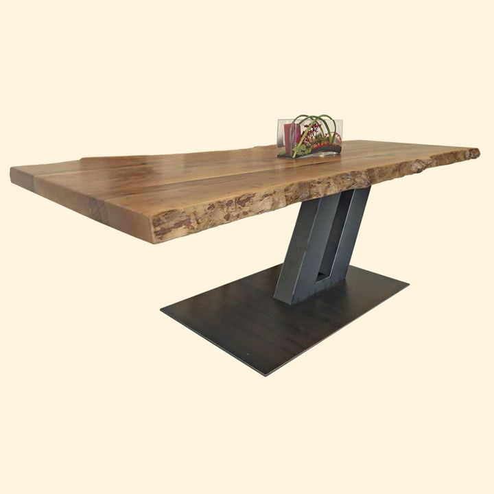 Esstisch Massivholztisch Aus Eichenholz Altholz Tischgestell