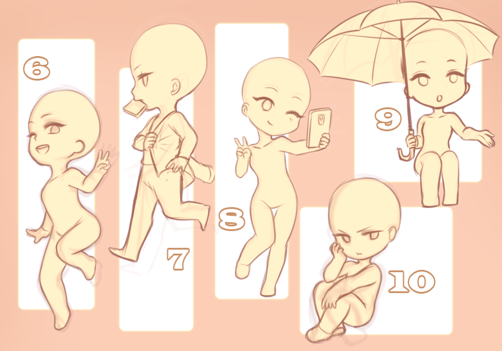 Chibi Ych 2 Closed By Sashavasileva Deviantart Com On Deviantart Anime Poses Reference Chibi Sketch Chibi Drawings