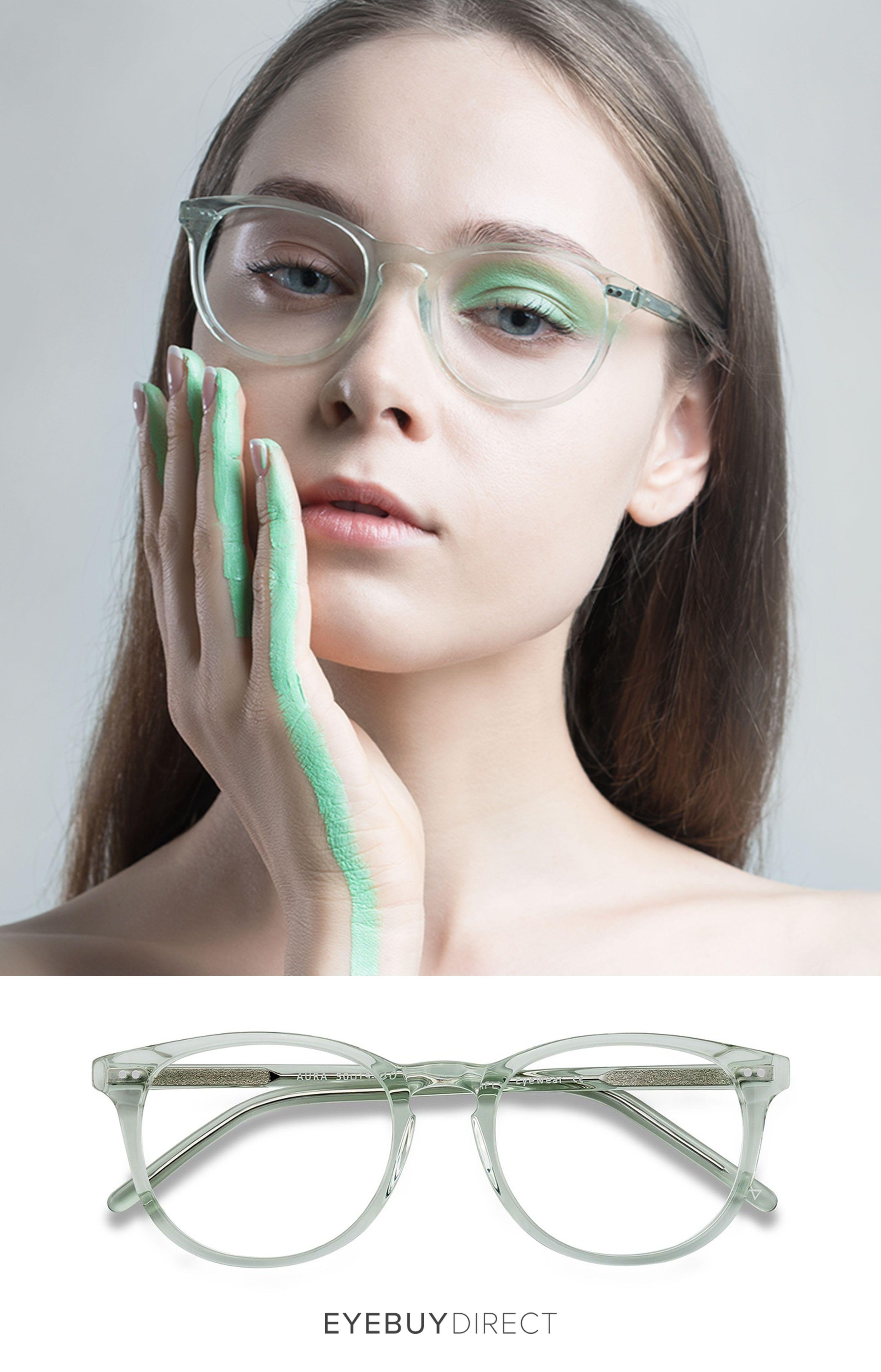 d403da2dd6 Aura Eyeglasses in Clear Jade