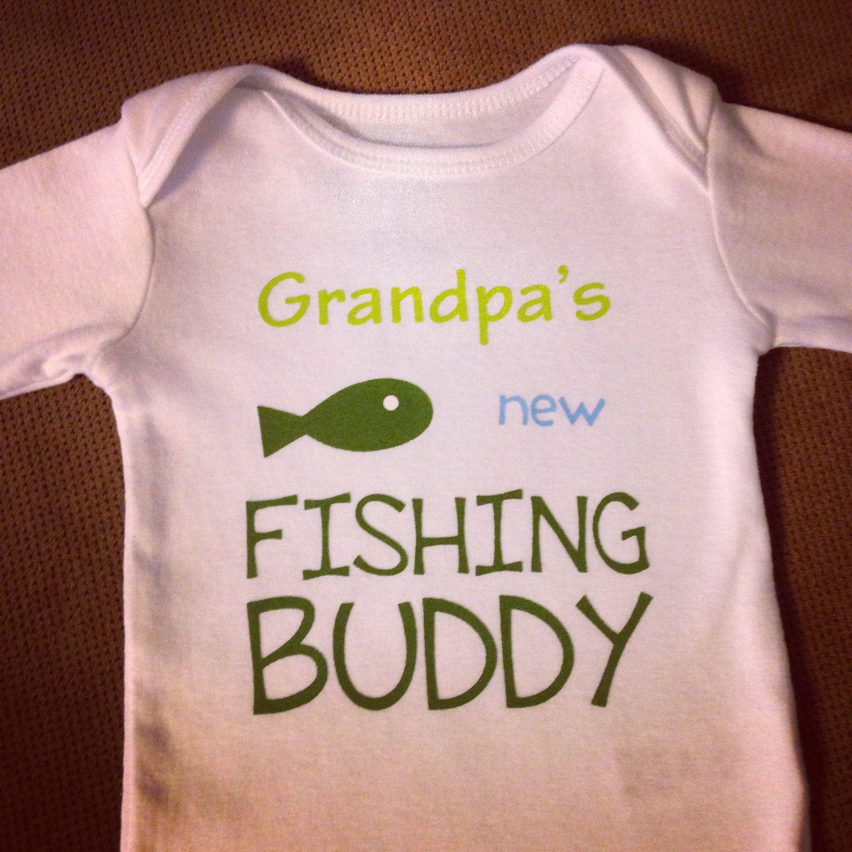 Grandpa/'s Fishing Buddy Personalized shirt Baby gift Baby girl shirt