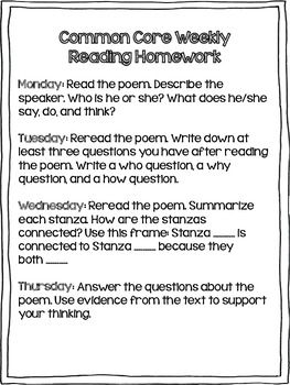 3rd Grade Reading Review | Set 3: Poems/Poetry | Common Core ...