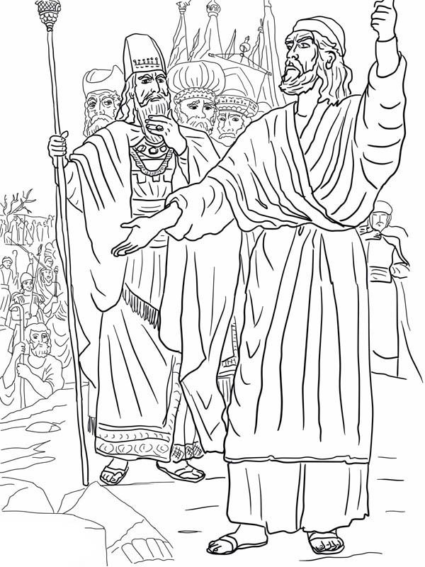Elijah Elijah Ahab And Prophets Of Baal On Mount Carmel Coloring