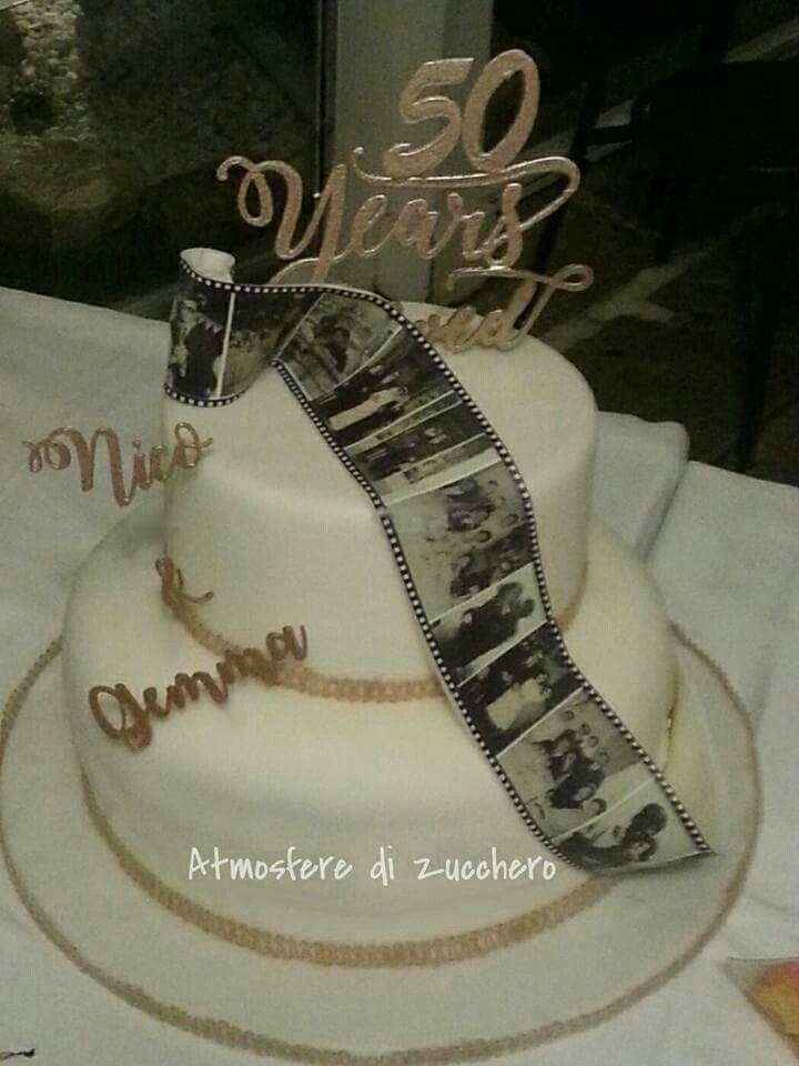 50 Anni Di Matrimonio Scritte 3d Sulla Torta Back Mitfondan Und