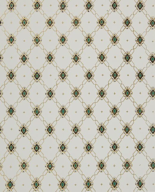 1870s English Reproduction Wallpaper Pretty Papered Rooms