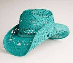 040aa9a6bb2 Turquoise Cowgirl Hat