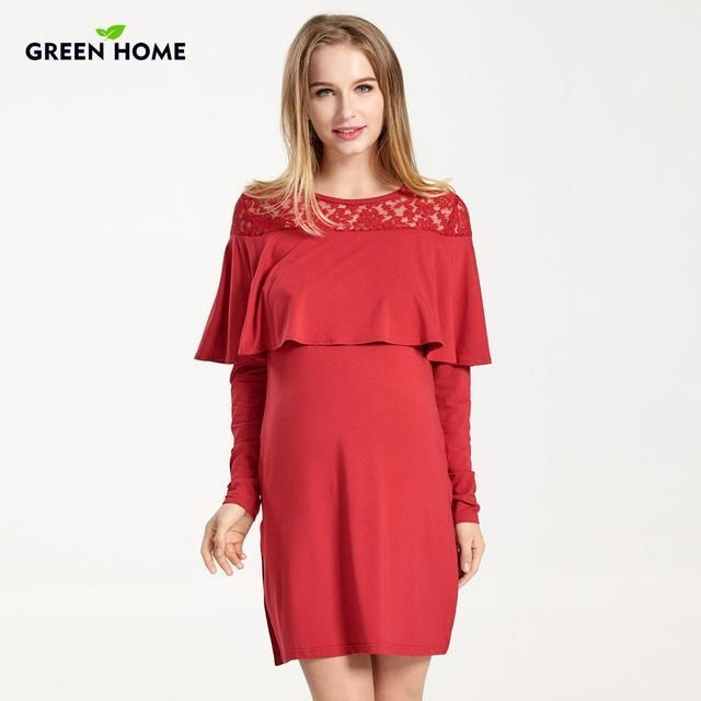 ff097e1299b83 Green Home Maternity Dress | hellomunchkin.com | products ...