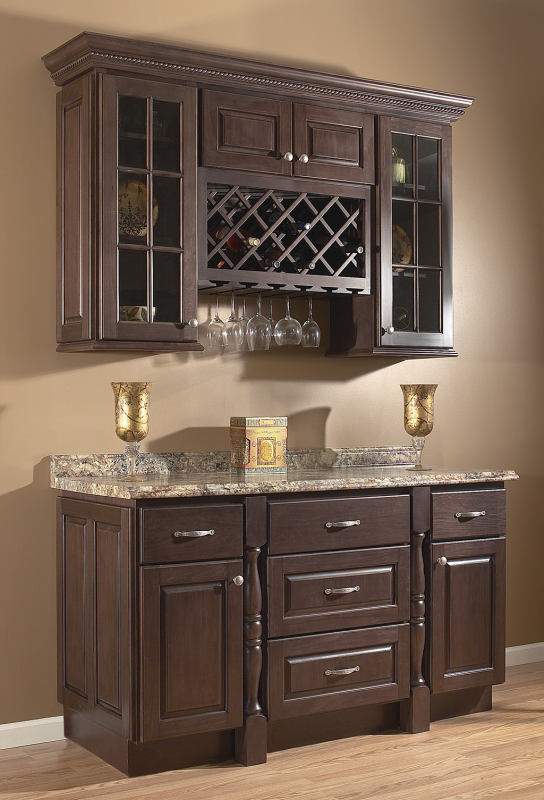Upper Kitchen Cabinets With Glass Doors And Wine Rack Bing