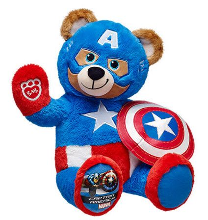 6f6154a7e6e Captain America bear from Build-A-Bear