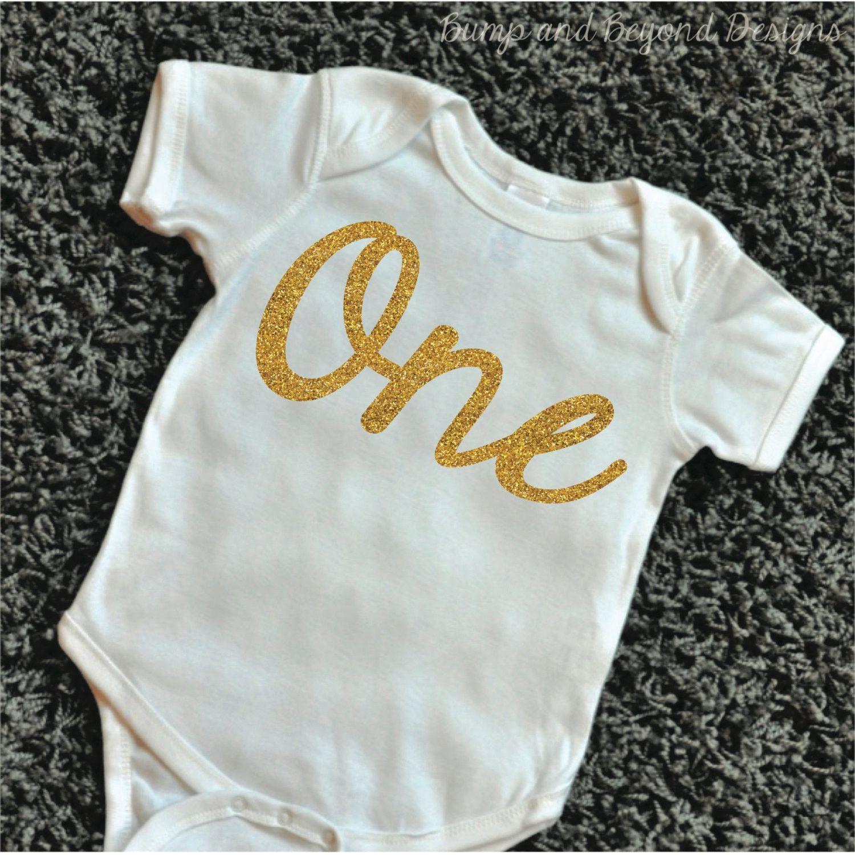 327961f5bfe ... Baby Boy Clothes - Funny Bodysuit by BumpAndBeyondDesigns. READY TO  SHIP First Birthday Shirt Glitter Gold One 1st Birthday Shirt Glitter Gold  Girl ...