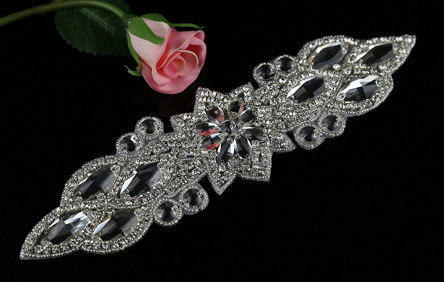 Applique Cristal Queendream Crystal Applique Rhinestone Applique Wedding