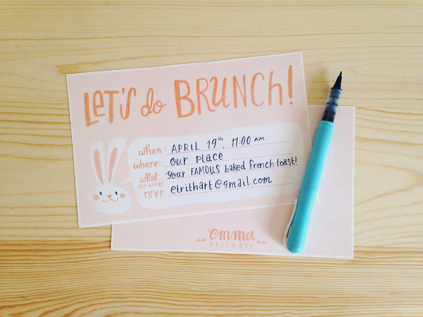 free printable easter brunch invitation sticker set emma