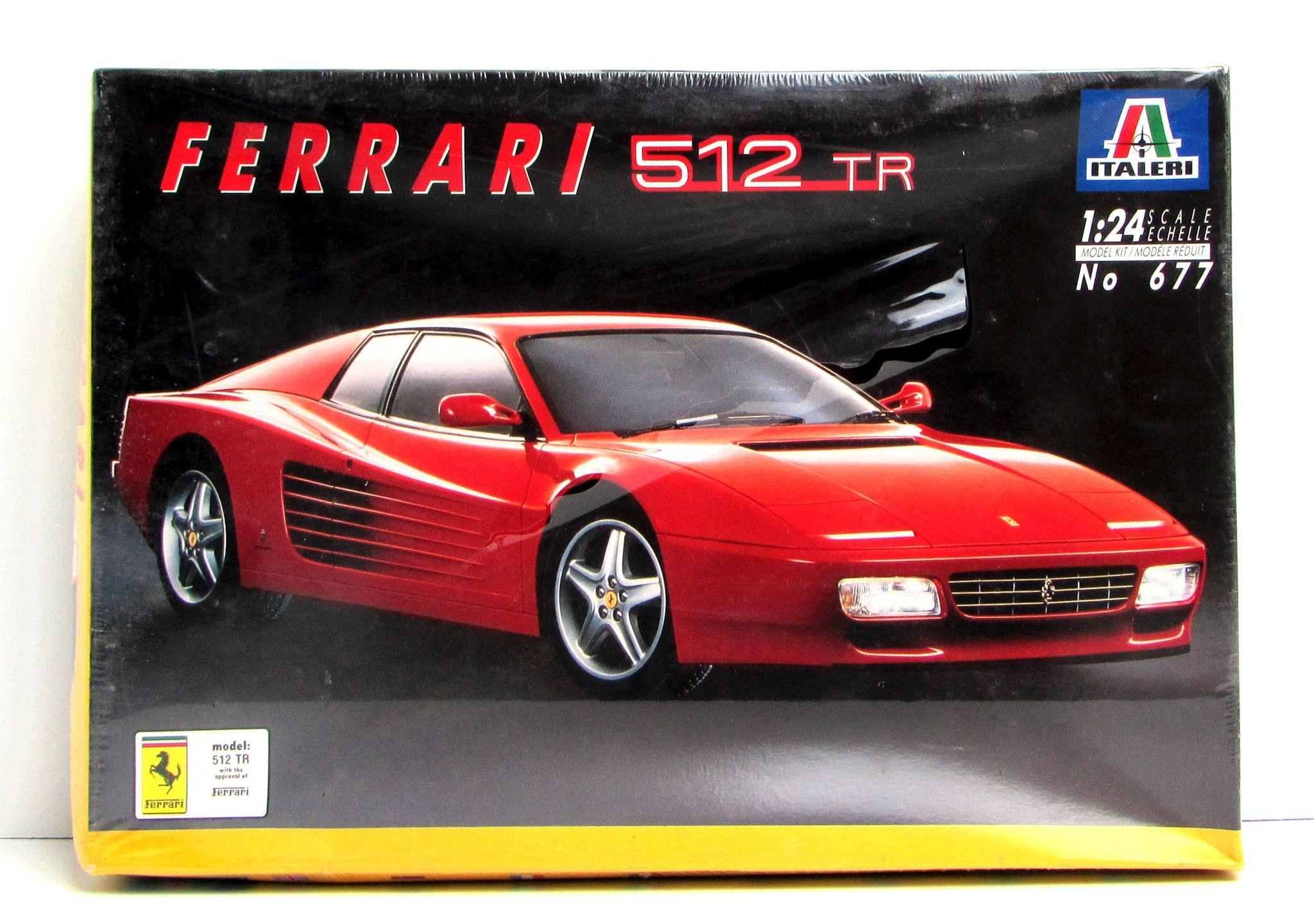 Ferrari 512 Tr Italeri Model Kit 677 1 24 Scale Sports Car
