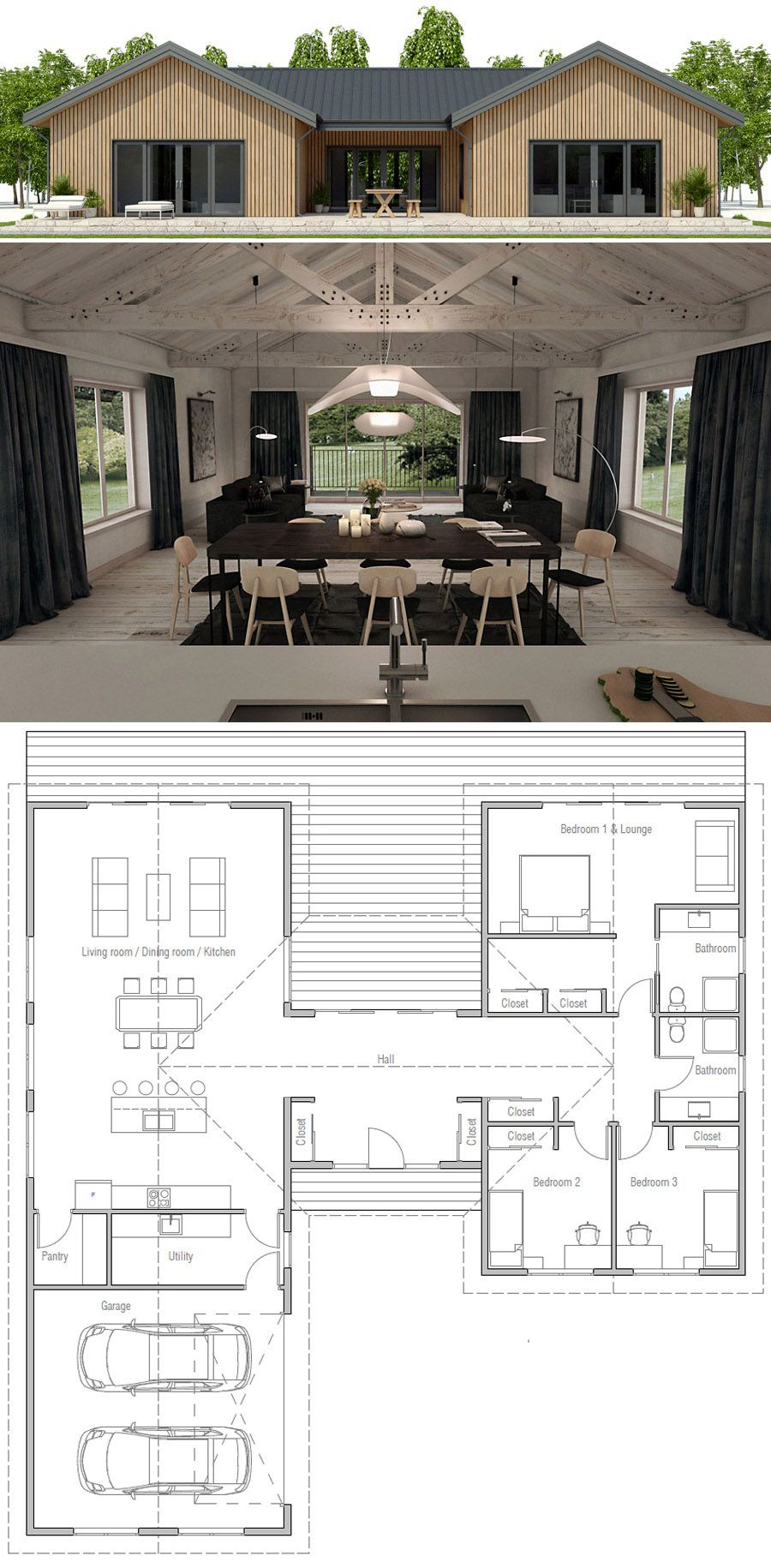 Kleines Haus | Kleine Häuser | Pinterest | House, Architecture and ...