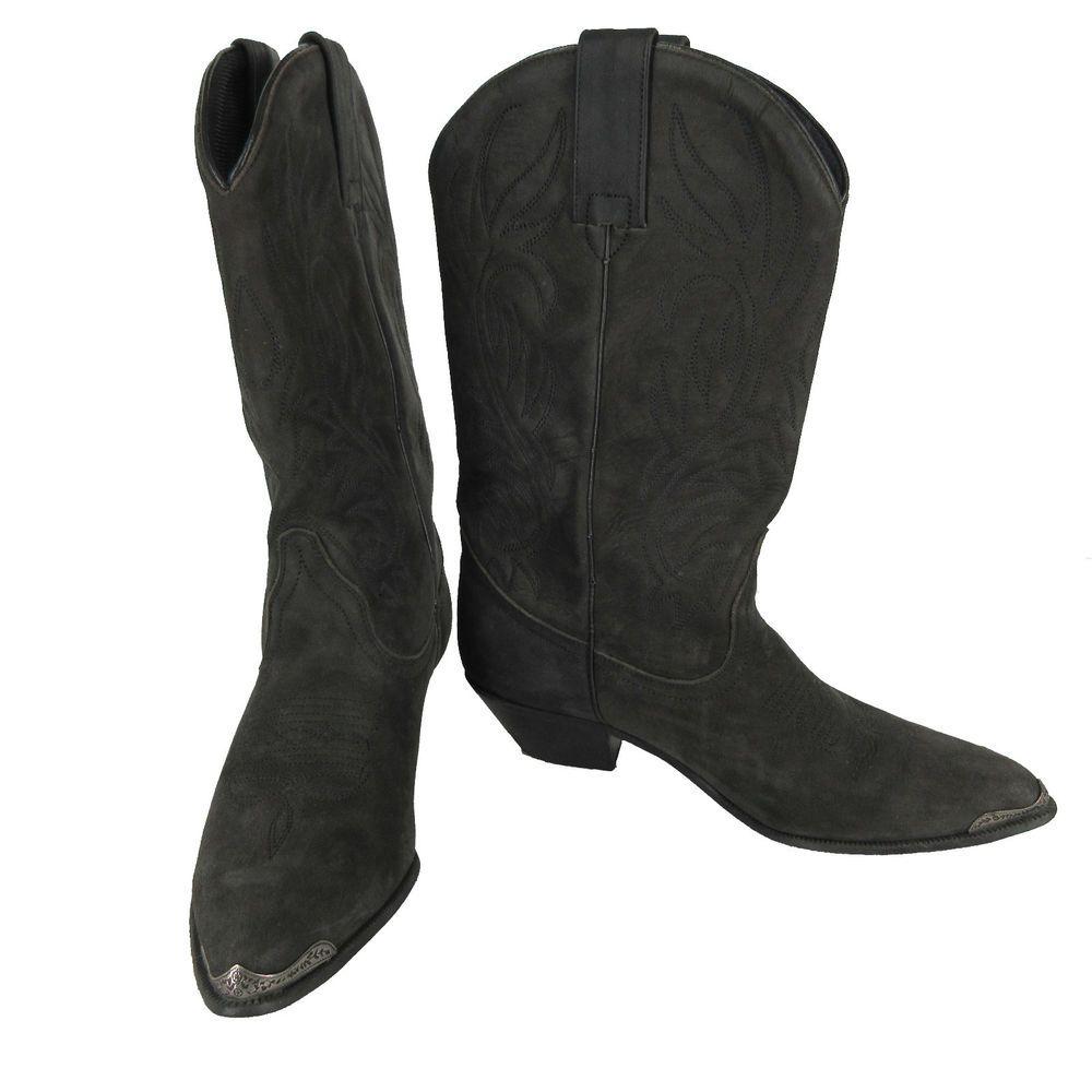 ACME Boots VTG 6.5 M Black Suede Nubuck