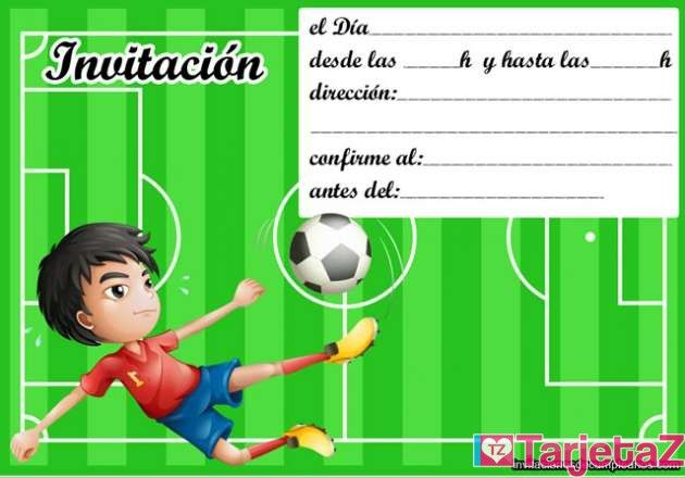 Tarjetas De Futbol Para Cumpleaños Buscar Con Google Tracing Worksheets Preschool Football Party Preschool Worksheets