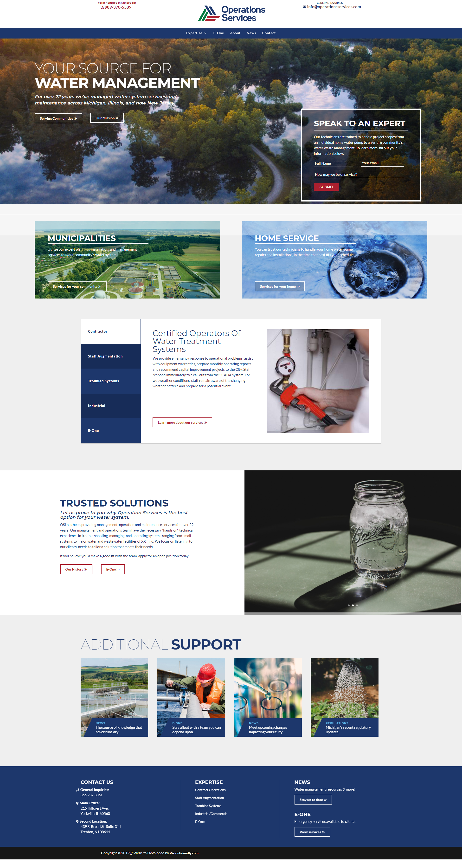 Operations Services Website Design Company Web Design Agency Water Treatment System
