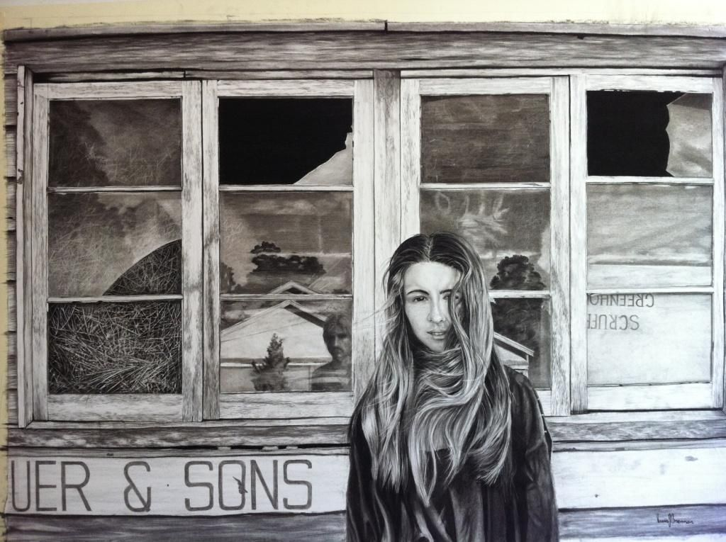 'The Only One' charcoal