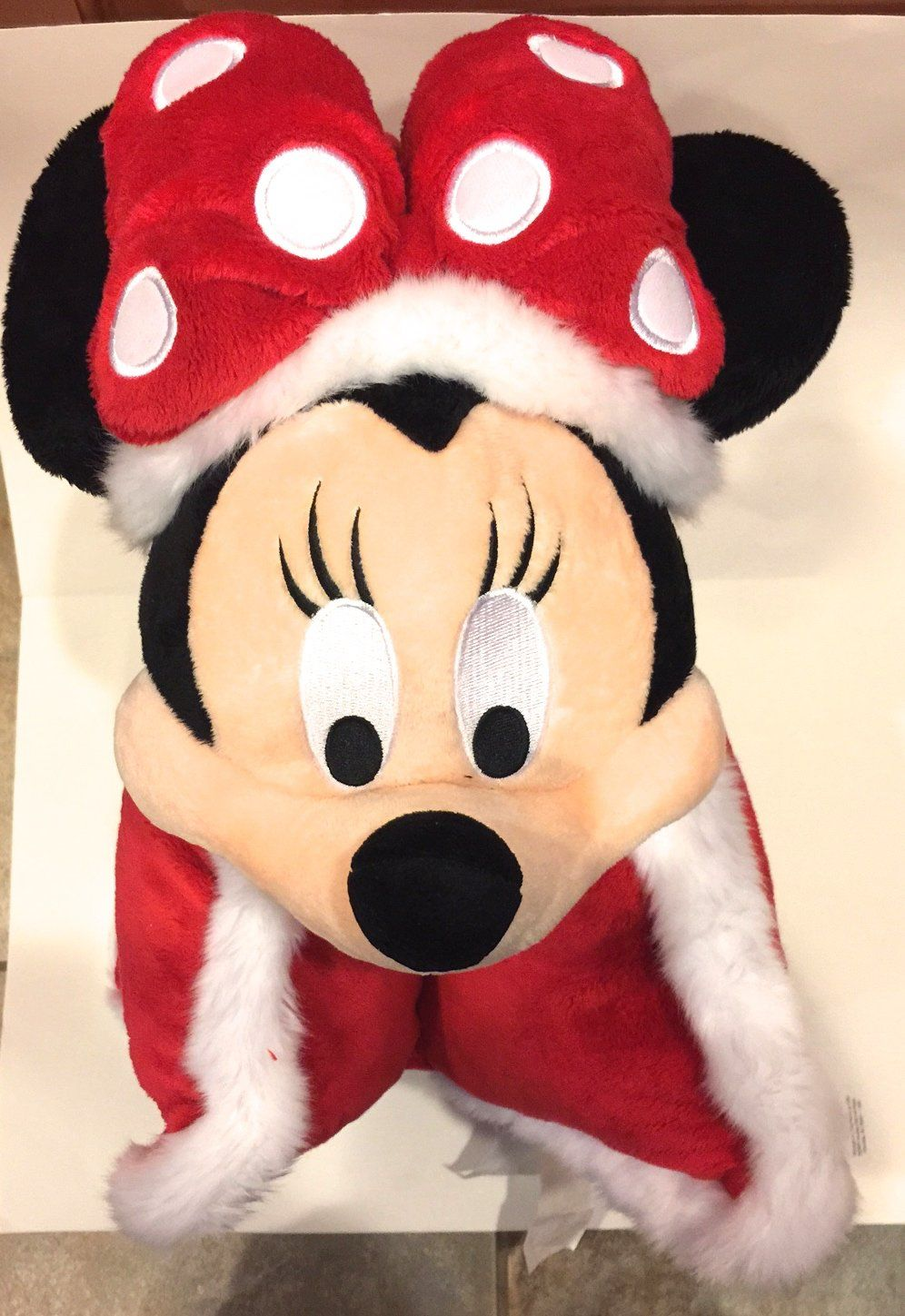 Disney Parks Santa Minnie Mouse Pillow Pal Pet Plush Doll New Disney Pillow Pets Disney Pillows Plush Dolls