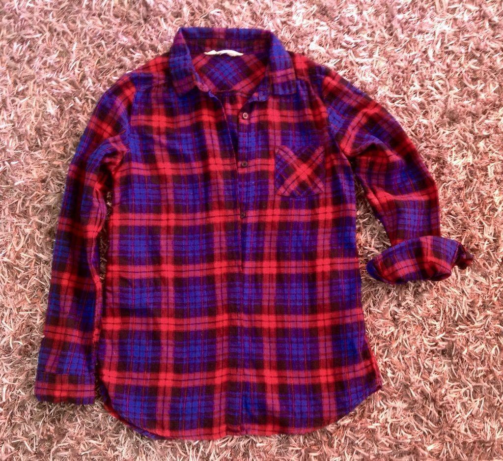 Mädchen Bluse Karo Hemd Gr.158