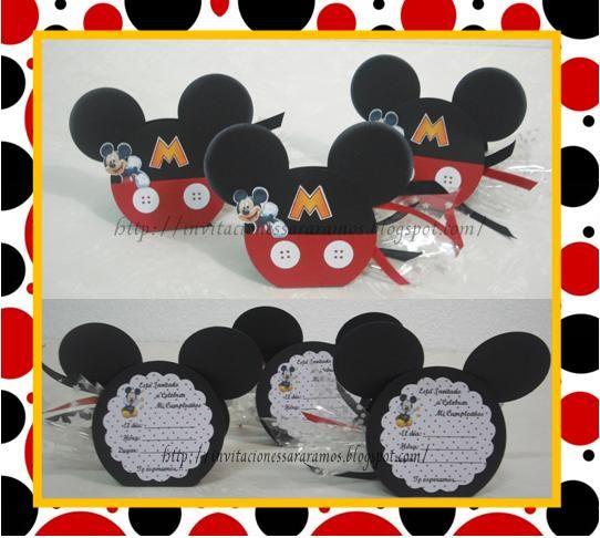 Modelos De Tarjetas De Invitación De Mickey Mouse Imagui