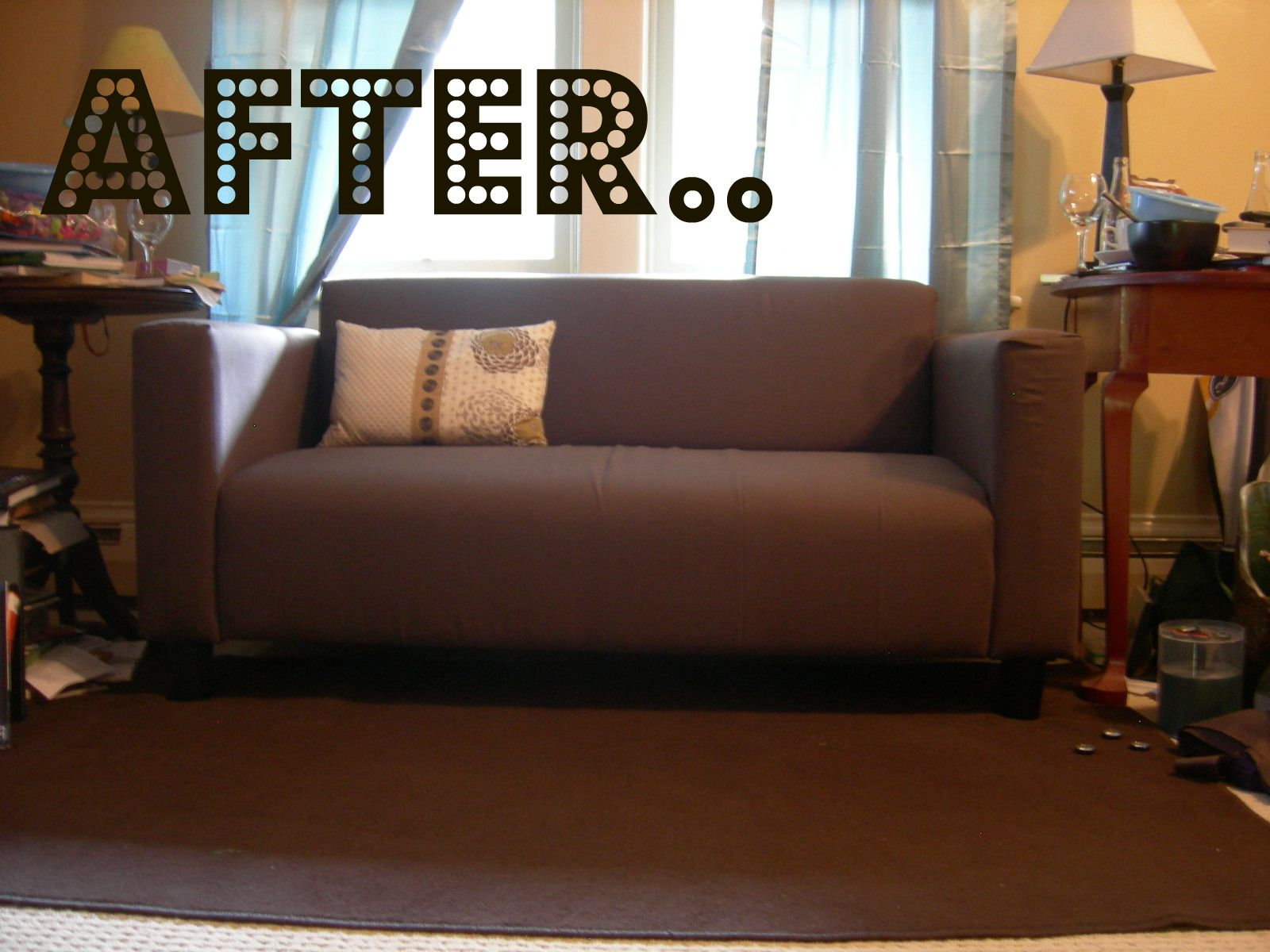 cover my furniture. It Just Occurred To Me That I Can Cover My Stained Klobo Loveseat In New Fabric Furniture D