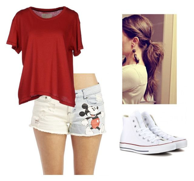 """Jenna"" by chloedrew-1 ❤ liked on Polyvore featuring Wet Seal, Current/Elliott and Converse"