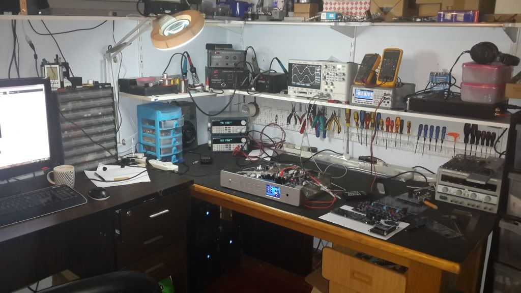 Whats Your Work Bench Lab Look Like Post Some Pictures Of Your Lab Page 25 Electronics Workshop Workbench Computer Repair Shop
