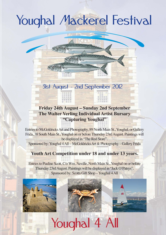 Youghal Mackerel Festival Flyer  Maritime Festival Weekend
