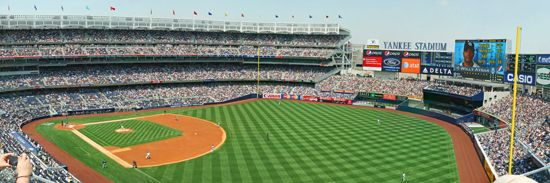 Beautiful Yankee Stadium Wall Mural Terrace Level View Inside Old Fathead