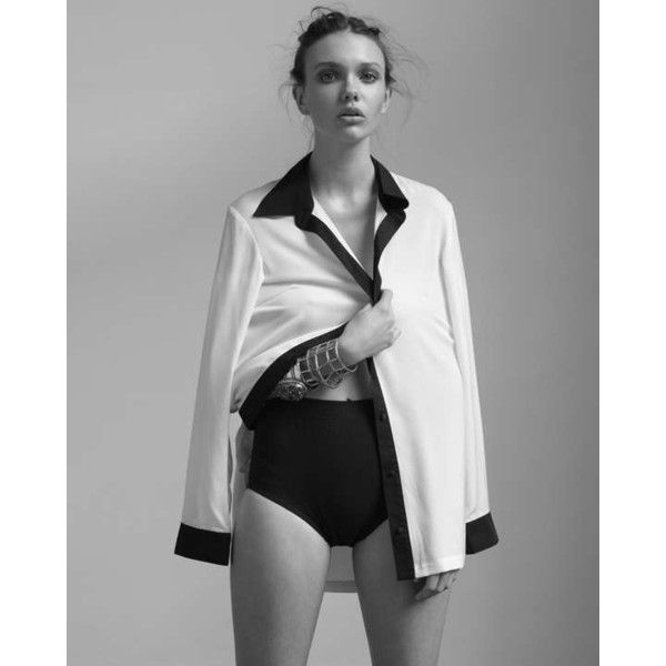 Sleepwear-Inspired Fashion The Russh Issue 46 Editorial Brings the Pajama  Look Out of the Bedroom found on Polyvore b3d912c23