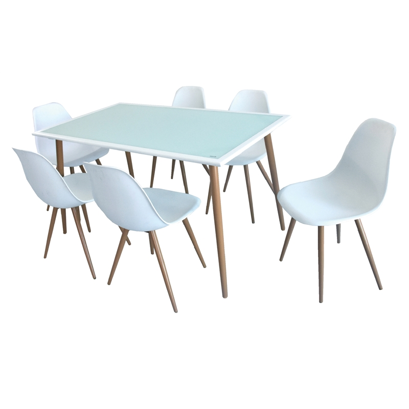Marquee Seaford 7 Piece Dining Setting, Round Table Tops Bunnings