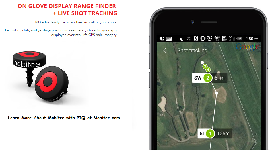 Mobitee with PIQ OnGlove Display Range Finder + LIVE