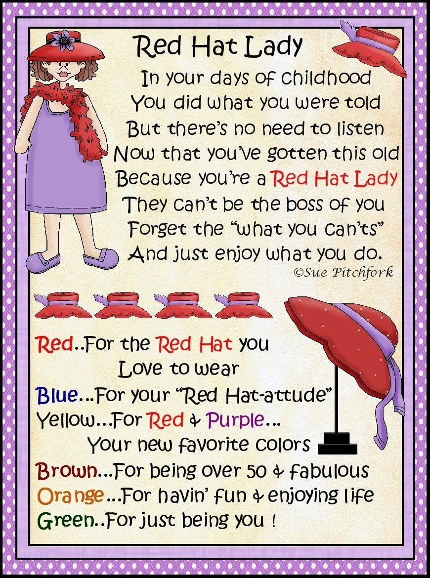 Red Hat Ladies Poems 311 Red Hat Jpg Red Hat Society Red Hats