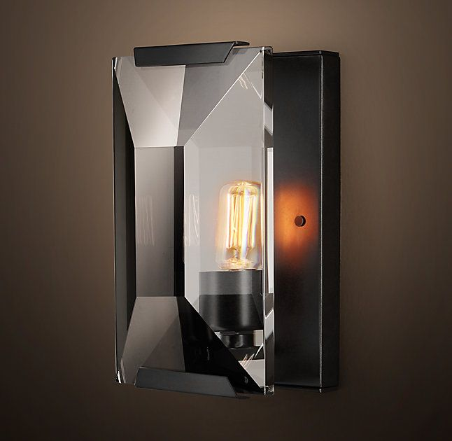 Rh 39 S Harlow Crystal Sconce Inspired By A German Chandelier From The 1970s Our Fixture Evokes The Crystal Wall Lighting Crystal Sconce Wall Sconce Lighting
