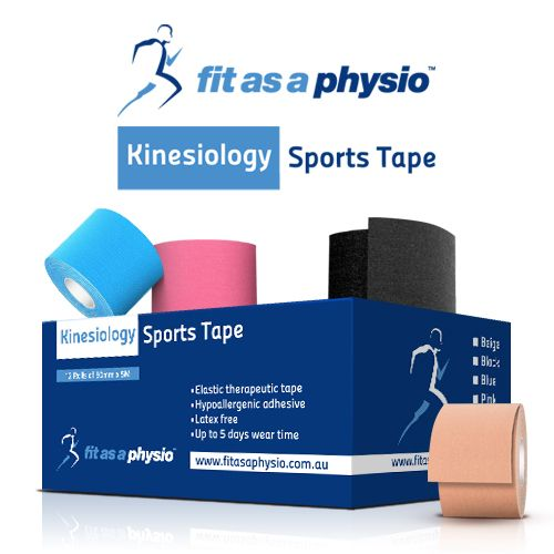 Kinesiology Sports Tape - Box of 12 Rolls MIXED