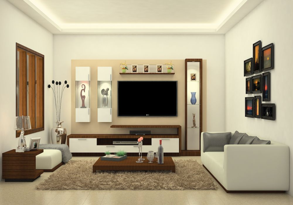 Modular Living Room Furniture Set Made Up Of Plywood With Lami