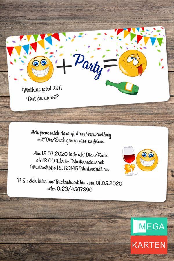 Lustig Smiley Geburtstagseinladung Lustige