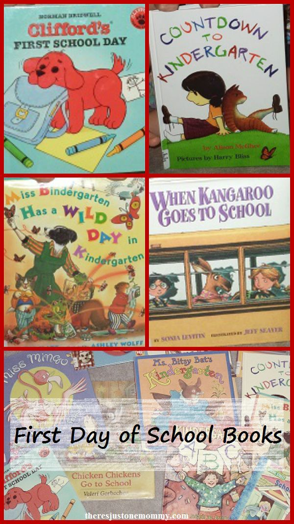 Best First Day of School Books for Kindergarten | There's Just One Mommy