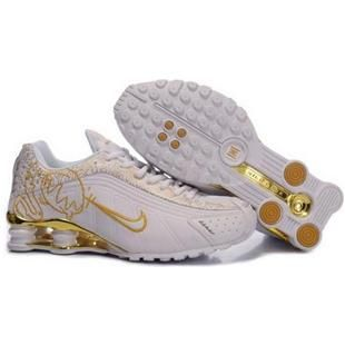 Nike Shox Shoes-Cheap Women s Nike Shox Shoes White Yellow Brilliant Gold Shoes  For Sale from official Nike Shop. 6f86a9042