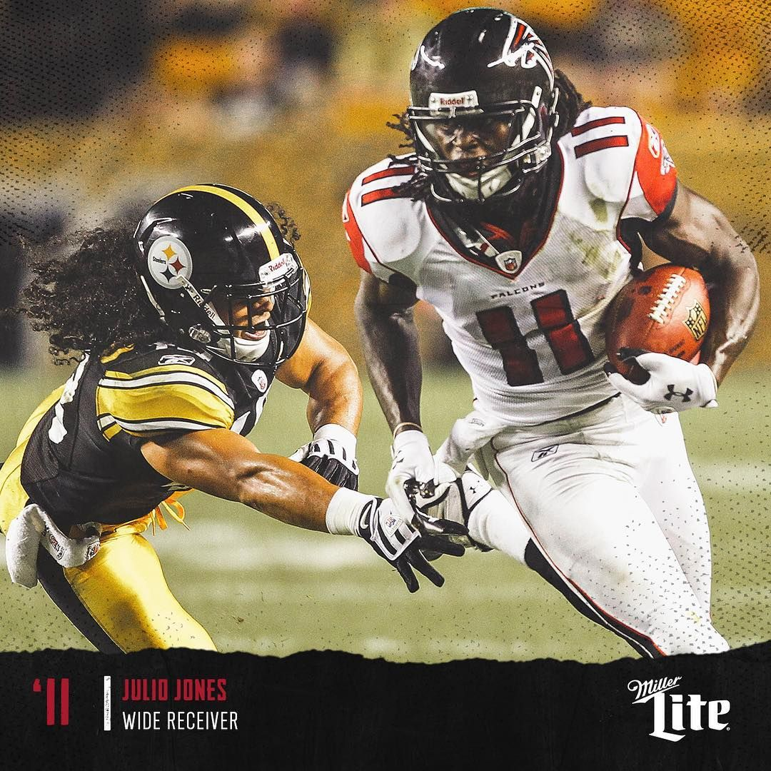 Atlanta Falcons On Instagram Troy Polamalu Julio Jones Tbt Julio Jones Atlanta Falcons Troy Polamalu