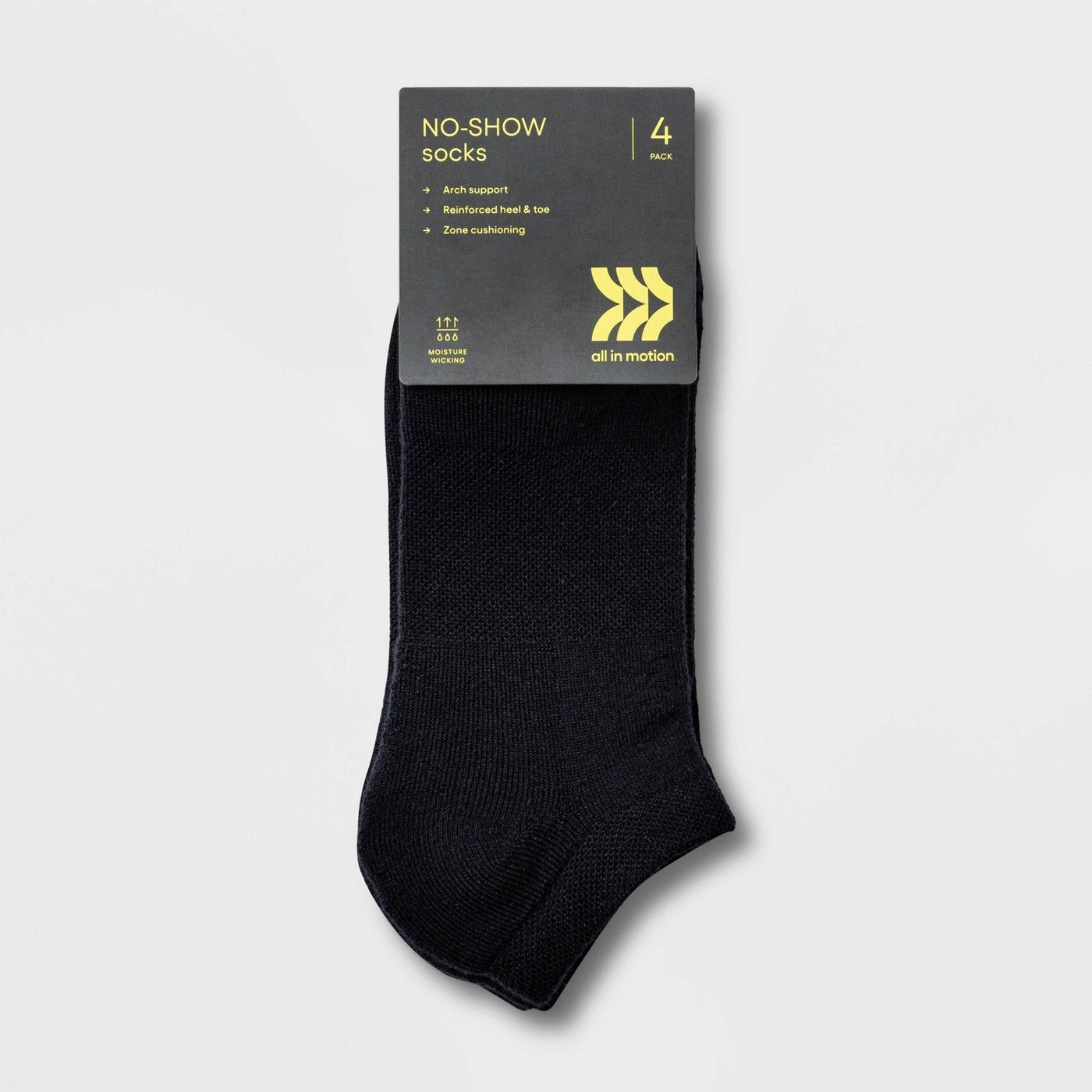 Women's Extended Size Cushioned 4pk No show Athletic Socks