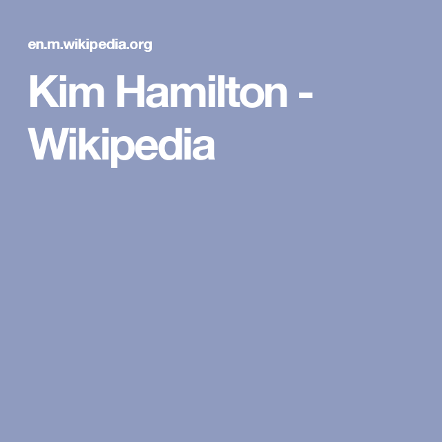 Kim Hamilton - Wikipedia