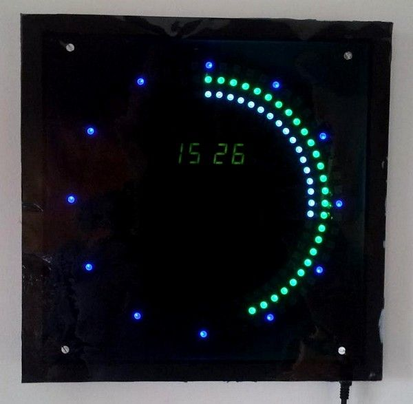 Rgb arduino led clock technology electronics ideas