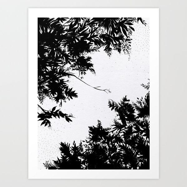 Night's Sky Art Print by Caitlin Workman | Society6