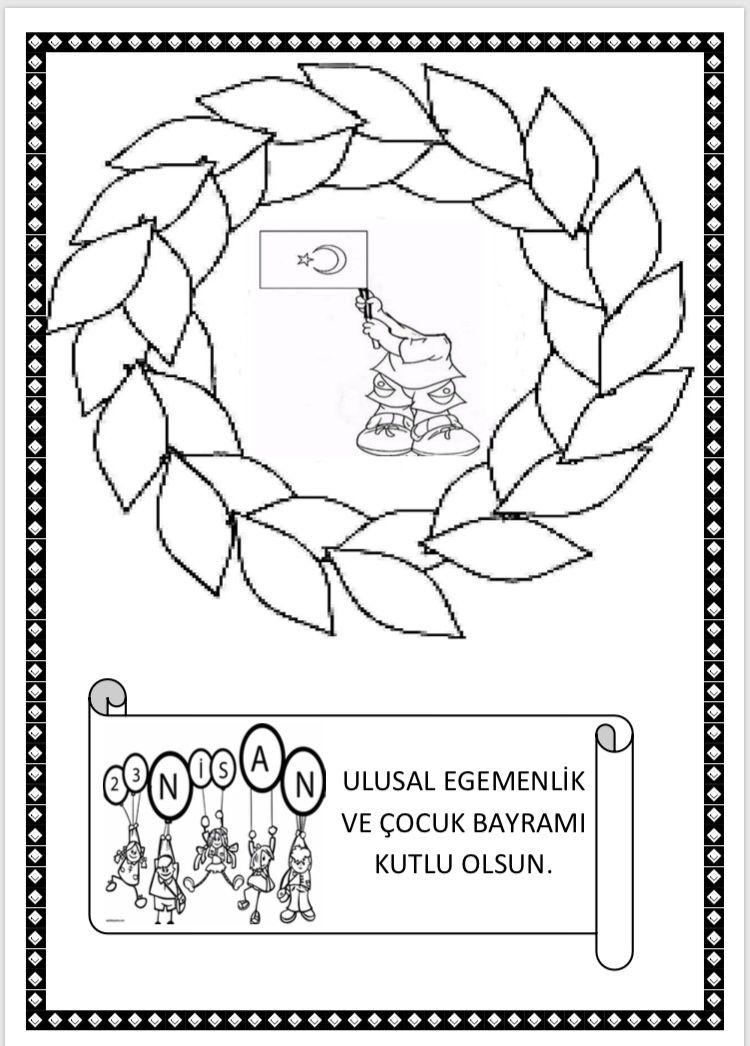 23 Nisan Boyama Calismalari Cigdem Ogretmen Izinsiz Baska