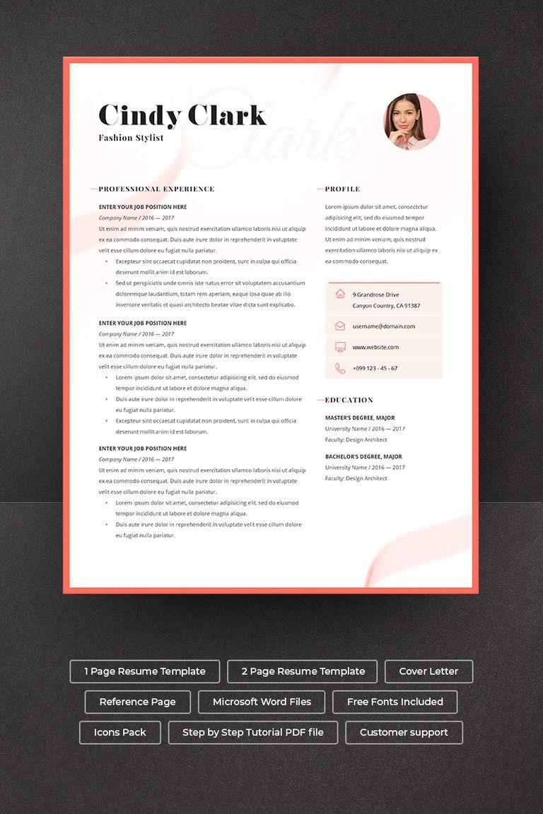 Cindy Clark Resume Template Simple Resume Template Resume