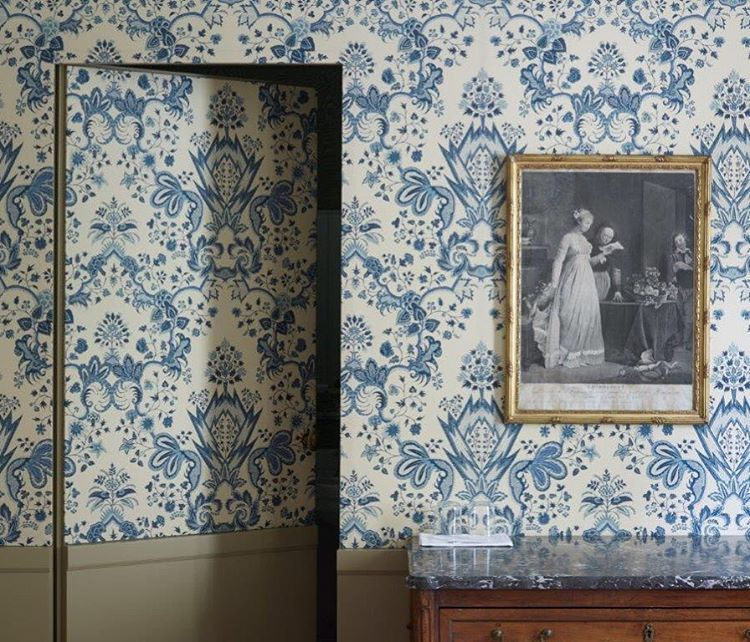 samarkand by pierre frey wallpaper and paints pinterest papier peint panneau et bleu. Black Bedroom Furniture Sets. Home Design Ideas
